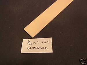 1/16 x 1 x 23 Model Lumber Architect basswood supplies 2pc craft sheet