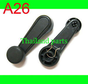 2 x WINDOW WINDER CRANK HANDLE GREY SUZUKI SJ413 SIERRA MARUTI HOLDEN DROVER
