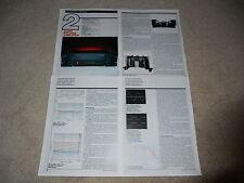 Sumo Polaris Amplificatore Review,4 Pagina,1987,Full Test,Speciali,Info,Raro