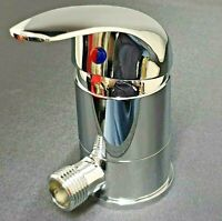 """Chrome Caravan Shower Mixer Tap Outlet 1/2"""" with Swivel Non Microswitched T80"""