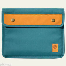 Timberland Unisex Natick Water-Resistant Blue Cotton Tablet Sleeve Style J0810