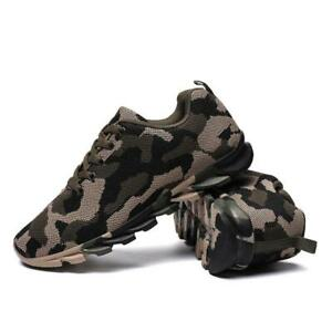 Men Camouflage Running Shoes Breathable Athletic Outdoor Sports Sneakers NEW