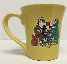 Walt Disney Christmas Mug w/ Santa Claus Mickey Mouse Huey Dewey Louie Chip Dale