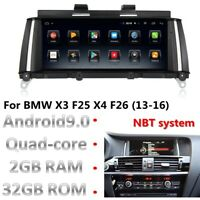 """Android 9.0 8.8"""" HD Car Gps Navigation For BMW X3 F25 X4 F26 (13-16) NBT System"""