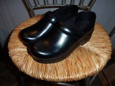 DANSKO BLACK LEATHER CLOSED BACK CLOGS WOMEN'S SIZE-36 / 5.5-6 NURSING SHOES
