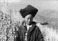 Lot 3 photos originales L'héroïne du triangle d'or doc général Tuan opium pavot