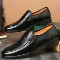 Men's Formal  Business Dress Shoes Casual Flat Oxford Leather Slip On Round Toe