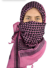 Mato & Hash Military Shemagh Tactical 100% Cotton Scarf Head Wrap Pink/Black