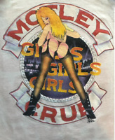 Vintage Motley Crue Girls Reprinted White Men Short Sleeve T-Shirt S-23XL AA1359