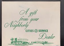 Cities Services Dealer Gift Automobile Prints Lot of 3 With Folder