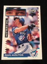 PAUL MOLITOR 1995 SCORE AUTOGRAPHED SIGNED AUTO BASEBALL CARD 566 BLUE JAYS HOF