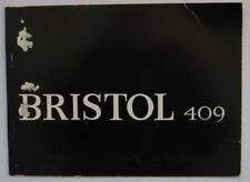 Bristol 409 sales brochure