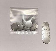 Disco De Acero Inoxidable's (25) Para Manualidades De Metal-diámetro 20.5mm X 0.9mm de espesor