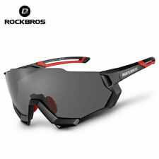 Black RockBros Polarized Cycling Glasses Half Frame Sports Sunglasses Goggles