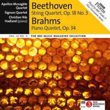 BEETHOVEN: STRING QUARTET, OP 18 NO 3, BRAHMS: PIANO QUINTET ETC - BBC CD (2016)