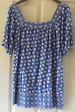 Lovely ladies blue & white short sleeved top from Atmosphere, size 8