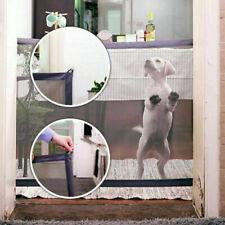More details for retractable pet dog gate safety guard folding baby toddler stair gate isolation