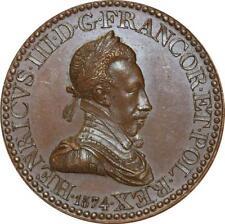 O5766 Rare Médaille Henri III Roi Félicitas 1574 Baron Desnoyers SPL