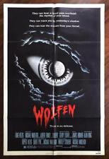 WOLFEN 1981 Horror Thriller Werewolf New York Slum Monster ORIGINAL MOVIE POSTER