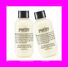 PHILOSOPHY Purity Made Simple One Step CLEANSER Removes Face Eye Makeup 2 x 3 oz