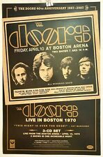 """The Doors Live in Boston 1970 Rhino 2007 11x17"""" Promo Poster Rare Exc Vg/Nm Cond"""