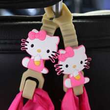 2pcs Pink Hello Kitty Car Back Seat Headrest Hanger Holder Seat Hooks Bag Purse