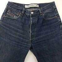Diesel KRATT Mens Jeans W32 L30 Dark Wash Blue Relaxed Fit Straight High Rise