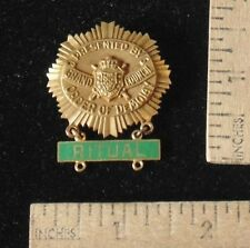 ORDER OF DEMOLAY Pin or Medal with RITUAL Pendant