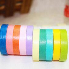 Confezione da 10rotoli di cartaWashi nastro adesivo Rainbow Color Sticky#adesivo