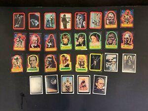 1977 Topps Star Wars Fox Films Series 1 -5 Complete 55 Sticker Card Set VG