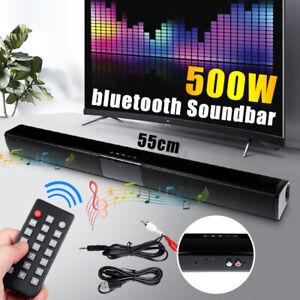 TV Wireless bluetooth Soundbar Speaker Sound Bar Theater Subwoofer USB W/RCA -*