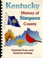 KY~Simpson & Logan County Biographies Kentucky Franklin Russellville Genealogy