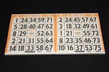 BINGO PAPER Cards 1 on's singles  200 Orange Bdr sheets  FREE SHIPPING