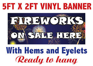 FIREWORKS BONFIRE NIGHT SOLD HERE BANNER SIGN PVC with Eyelets + Custom option 6