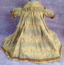 Antique Dress For French Or German Bisque Head Doll Jumeau Bru Kestner Gaultier