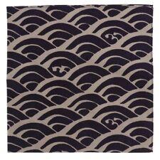 "Japanese Furoshiki Wrapping Cloth Scarf Tapestry 19.75"" Cotton Seikaiha Wave"