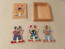 boite puzzle bois Clown - 12 pièces - Prescool