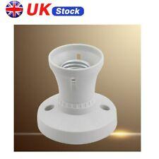UK E27 Light Bulb Screw Lamp Surface Fixing Base Holder Edison Screw Socket