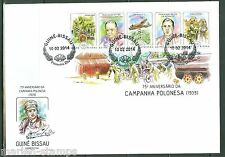 GUINEA BISSAU  2014 75th ANN OF THE INVASION OF POLAND START OF WW II SHEET FDC