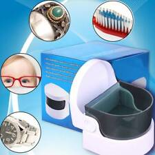 Durable Mini Jewelry Cleaner Vibrating Eyeglasses Rings Cleaning Box Tool 1pcs