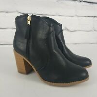 Maurices Womens Size 10 M Booties Black Faux Leather Side Zip