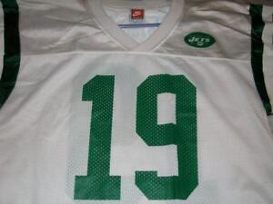 Keyshawn Johnson 19 New York Jets NFL White Nike Jersey Men's Medium used