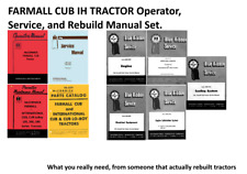 FARMALL CUB TRACTOR OPERA / SERVICE/ REPAIR /MAINT / parts / rebuild manual set