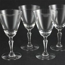 "4 VINTAGE FOSTORIA PRISCILLA CLEAR CRYSTAL WINE GOBLETS GLASS 5 1/4"", 4 OZ, 6092"