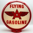 """FLYING A GASOLINE """"White Background"""" 13.5"""" Gas Pump Globe - SHIPS ASSEMBLED!!"""