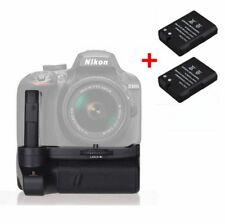 Muti Power Battery Grip Hand Holder + 2 EN-EL14 Battery For Nikon D3400 Camera