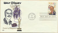 Walt Disney 1968 COVER CRAFT Cachet FDC Unaddressed Marceline, MO Scott #1355