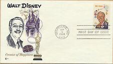 Walt Disney 1968 COVER CRAFT Cachet FDC Unaddressed Marceline, MO Scott #1355