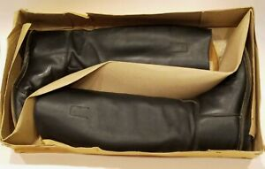 Vintage Marlborough Black Equestrian Riding Boots Size US 8 Made in England