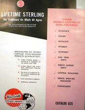 Weber Costello Chalkboards Catalog ASBESTOS in Schools!  Teachers Exposed!! 1962